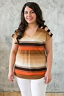 Майка с открытыми плечами ТАНЯ оранжевая