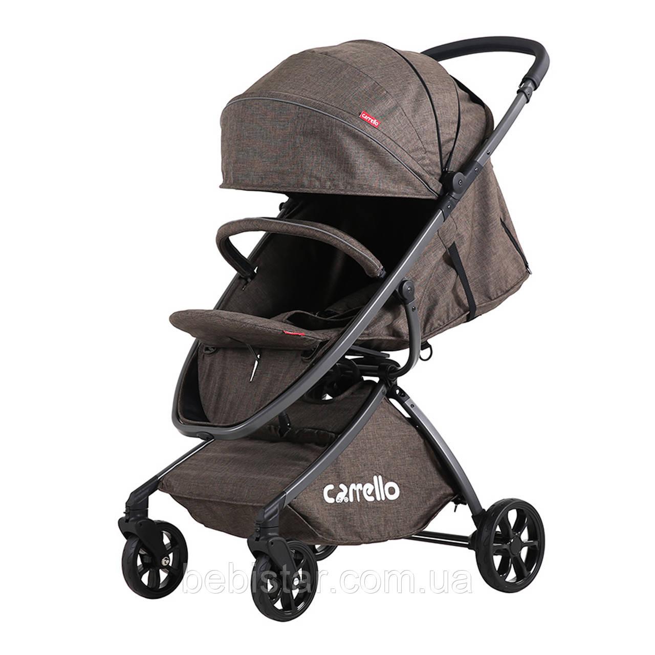 Прогулочная коляска CARRELLO Magia Brown с дождевиком деткам от 6 до 36 месяцев