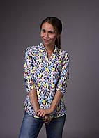 Рубашка женская принт бульдог