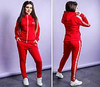 Стильный женский больших размеров спортивный костюм Найк , фото 1