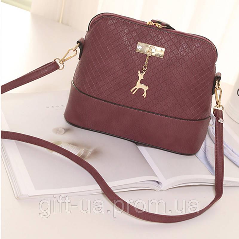 Сумка через плечо Бемби сумка Bembi фиолетовая женская сумка с олененком  сумка на цепи 3d867808b50