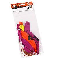 Шарики надувные цветные ''Хеллоуин'' 4 шт.с рисунком(цвета микс)