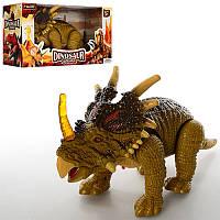 Динозавр 138-3, 32-17-12см, ходит, звук, свет, подв.голова и хвост, на бат