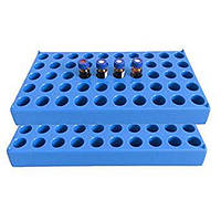 Штатив для виал объемом 1,5 мл, синяя, 50 мест, 1 шт./Упаковка