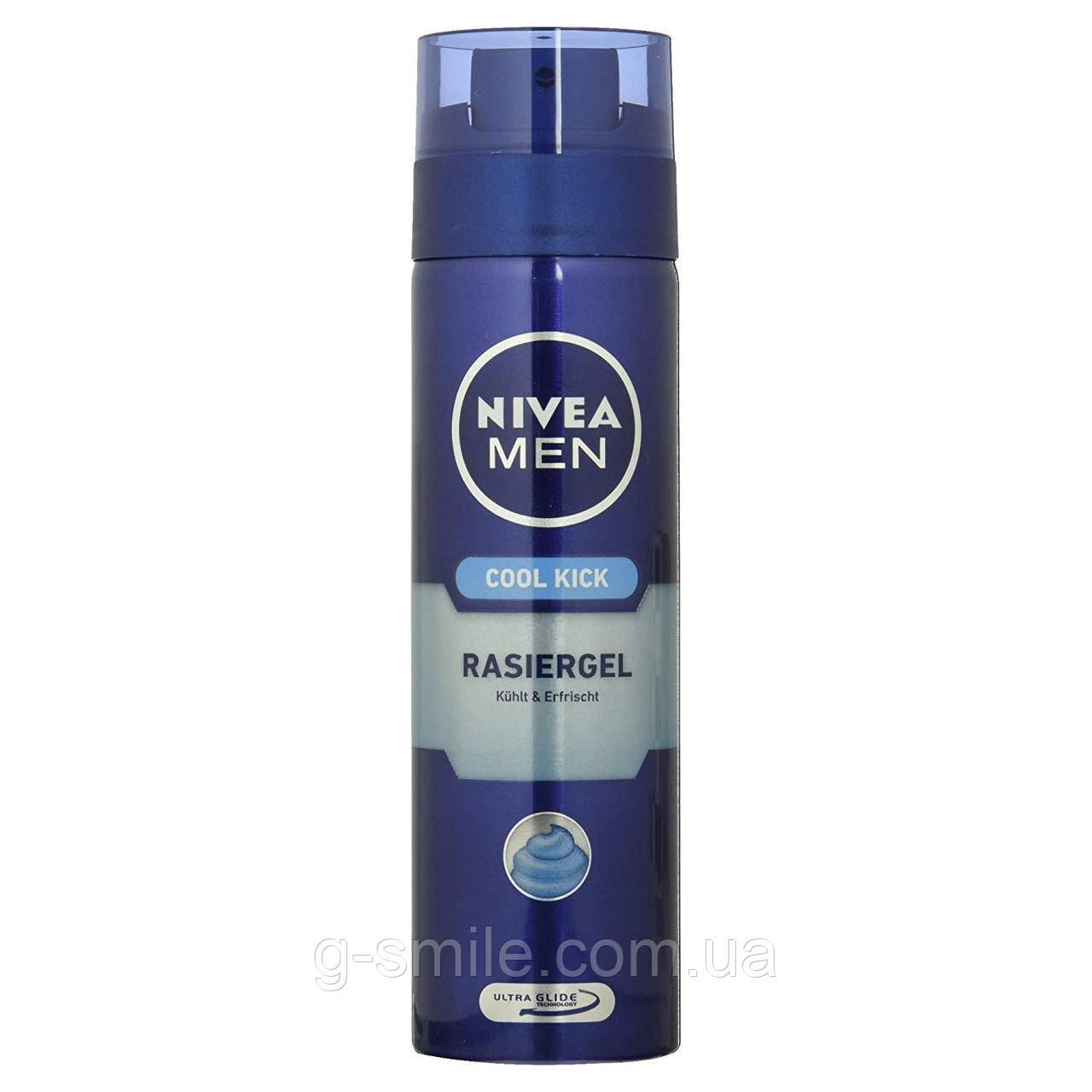 Гель для бритья NIVEA Men, Rasiergel für Männer Spender, Cool Ki, 200 ml,