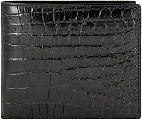 Эксклюзивное портмоне из кожи крокодила ALM 03 EX Black