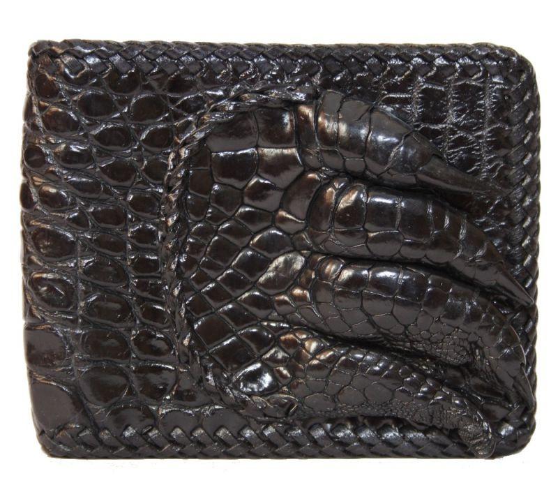 Портмоне из кожи крокодила с лапой ALM 04 PL Black - Товары из Таиланда оптом и в розницу МангоТанго в Одессе