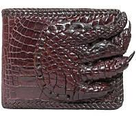 Портмоне из кожи крокодила с лапой ALM 04 PL Brown