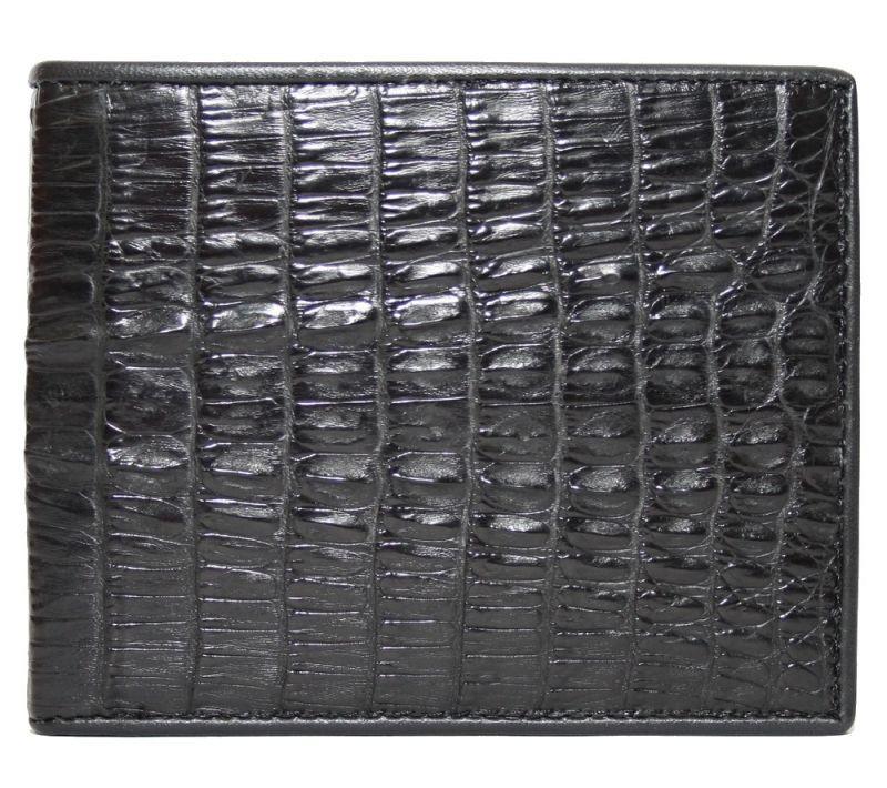 Портмоне из кожи крокодила (хвост) ALM 17 T Black  - www.mangotango.com.ua в Одессе
