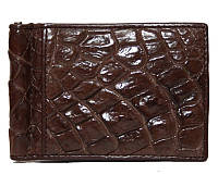 Зажим для купюр из кожи крокодила ALNT 59B Brown