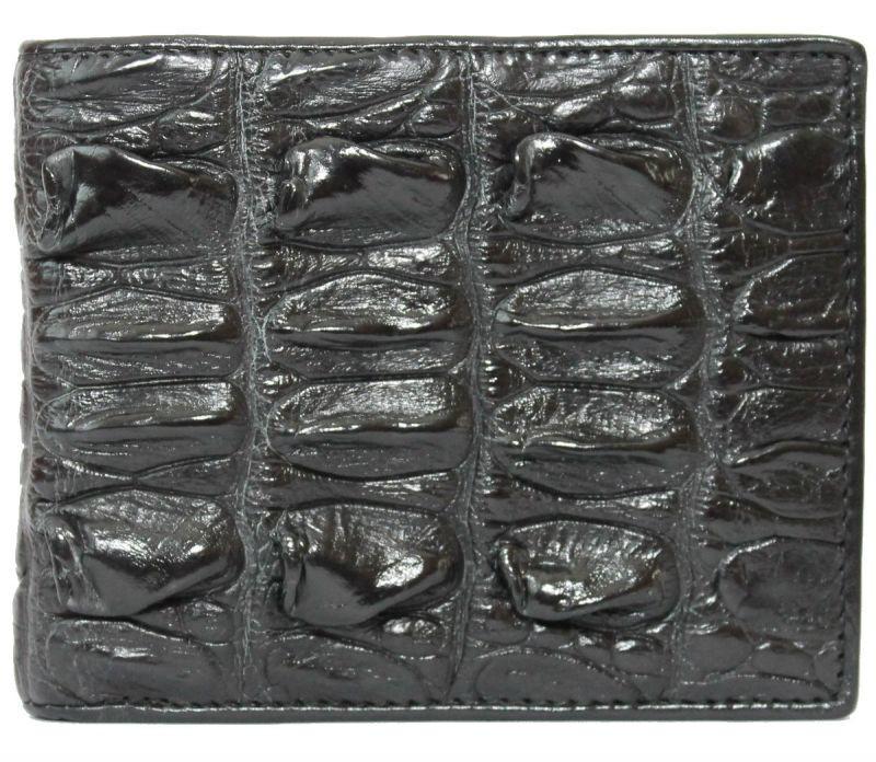 Портмоне из кожи крокодила (хвост) ALM 03 BT Black - www.mangotango.com.ua в Одессе