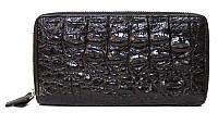 Сумка/кошелёк из кожи крокодила Лицевая сторона имеет рельеф хвостовой части. ZAM 15 ST Black