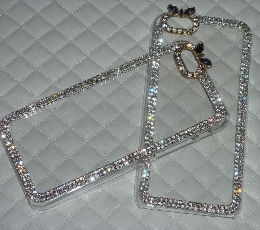 Чехол для iPhone 6 6S прозрачный с кристаллами