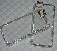 Чехол для iPhone 6 6S прозрачный с кристаллами, фото 1