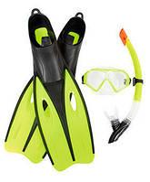 Набор для плавания Bestway (25023) маска, трубка,ласты, 2 цвета, фото 1