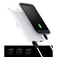 Внешний аккумулятор ergo lp-91 white 5000 mah li-po powerbank