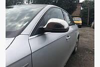Накладки на зеркала Audi A6 C6 2008-2012 (2 шт., нерж) Carmos
