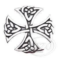 Серебряный кулон - Крест большой 0115