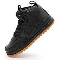 Высокие кроссовки Nike Lunar Force 1 черные AIR FORCE - Реплика р.(36, 37, 38, 39, 41, 42, 43, 44, 46)