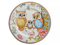 Набор десертных тарелок 6 штук Lefard Совы 17 см 924-098