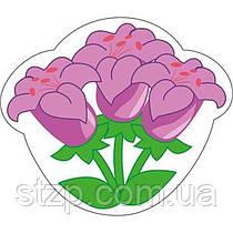 Крепление под магнит Сиреневые цветы