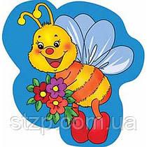 Крепление под магнит Пчелка на синем фоне