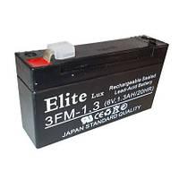 Аккумулятор гелевый Elite 3FM-1.3 6V1.3AH 20HR (SKD-0300)