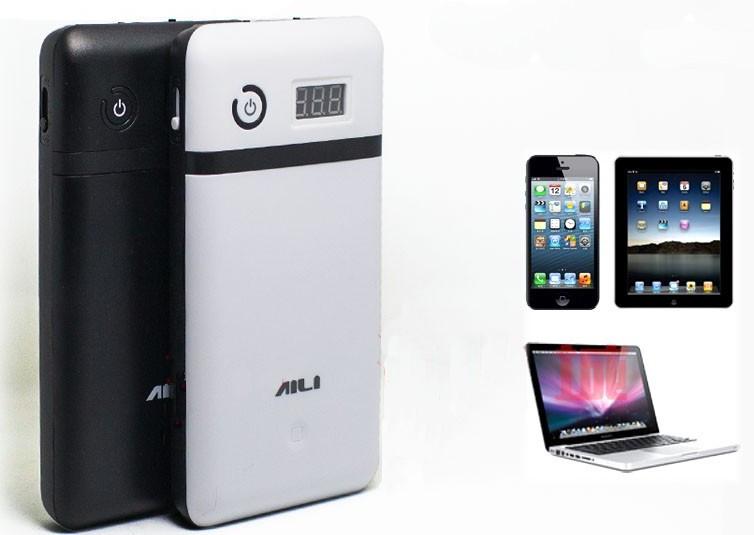 Powerbank / зарядний пристрій / мобільний джерело живлення для ноутбуків Aili 119 6*18650 (ЧОРНИЙ)