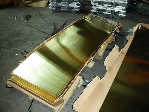 Лист латунный 1х500х1000 мм полутвердый