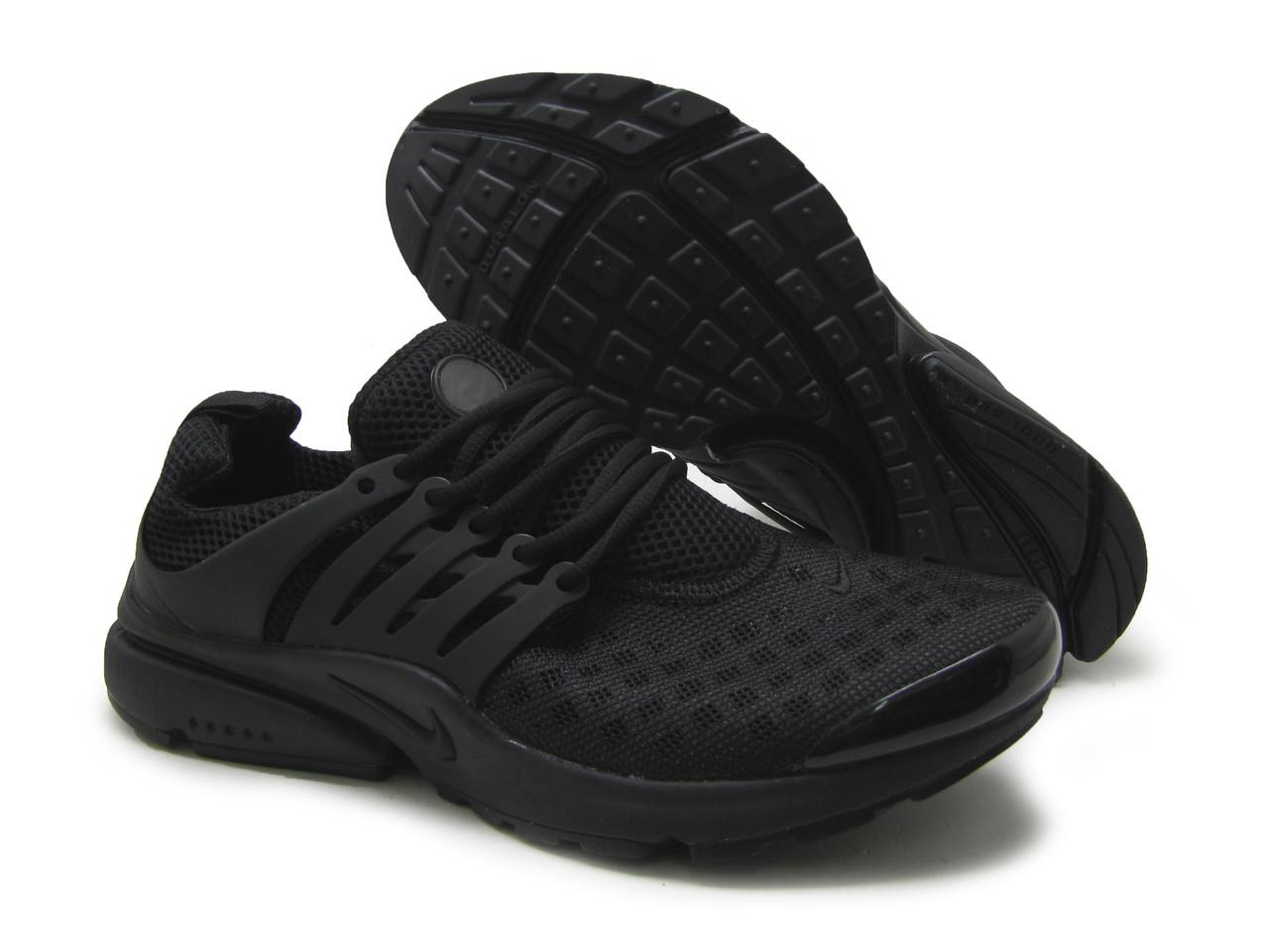 Кроссовки мужские Nike Air Presto сетка-черный