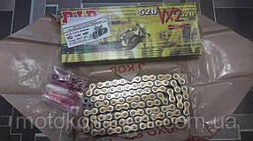 Мото цепь  520 DID 520VX2 114 G&B черно - золотая  для мотоцикла   снята заменена DID 520VX3