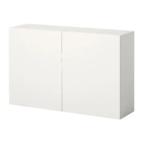 Навесной шкаф c дверцами IKEA KNOXHULT 120x75 см белый 903.267.92