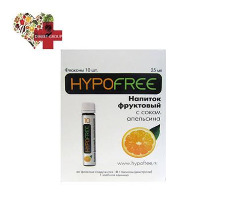 Гипофри напиток фруктовый 1ХЕ 10гр глюкозы (декстрозы),апельсин, фото 2
