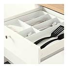 Напольный шкаф c дверцами и ящиком IKEA KNOXHULT 120 см белый 303.267.90, фото 2