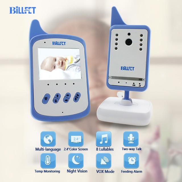 Видеоняня Baby Monitor BILLFET с аккумулятором в детском и родительском блоках. Синие