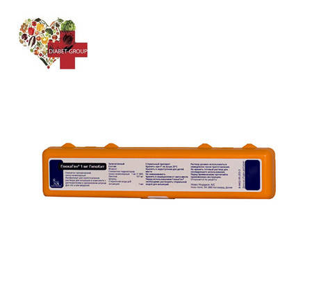 ГлюкаГен 1 мг ГипоКит пор.лиоф.д/ин. 1 мг/10 мл фл. [с р-лем, шпр.] пен. 1 НовоНордиск А/О, фото 2