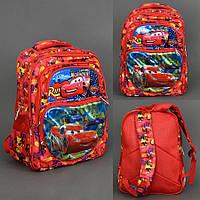 """Ортопедический рюкзак для младшей школы """"Тачки"""" Молнии Маккуина 555-455"""