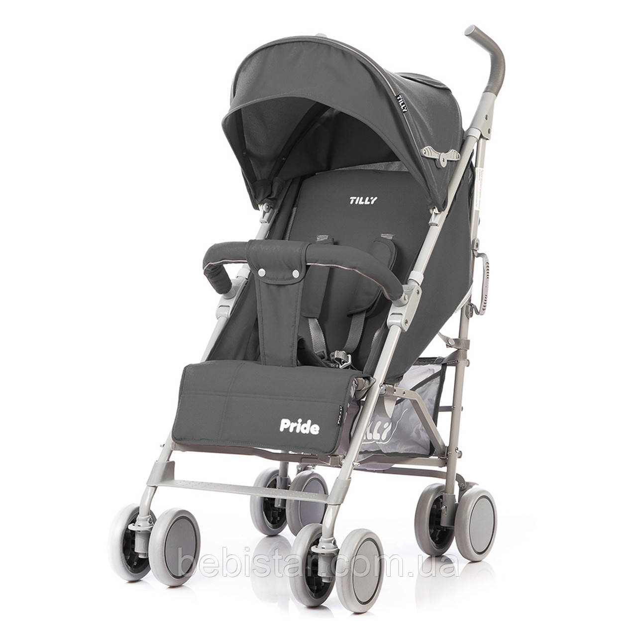 Детская прогулочная коляска TILLY Pride T-1412 Dark Grey