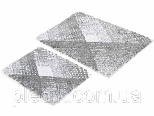 Набор ковриков для ванной хлопок 60х90, 40х60 см. IRYA WALL GRI серый