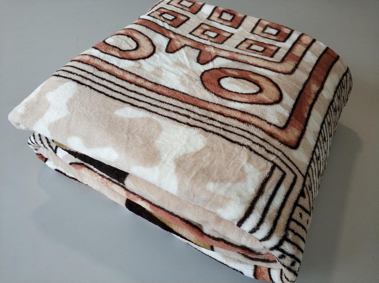 Микрофибровая простынь, покрывало TRUE LOVE евро Египет коричневый