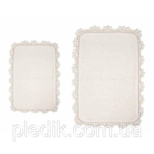 Набор ковриков для ванной хлопок 60х90, 40х60 см. IRYA SERRA EKRU кремовый