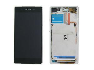 Дисплей для Sony D6502 Xperia Z2 L50W/D6503 с тачскрином и рамкой белый Оригинал (проверен)