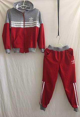 4d60b98abae9 Спортивный костюм Adidas для девочки 2-7 лет красный+серый
