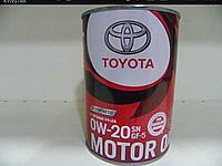 TOYOTA Motor Oil 0W-20 Моторное масло для бензиновых двигателей 1л.