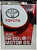 TOYOTA Motor Oil 0W-20 Моторное масло для бензиновых двигателей 4л.