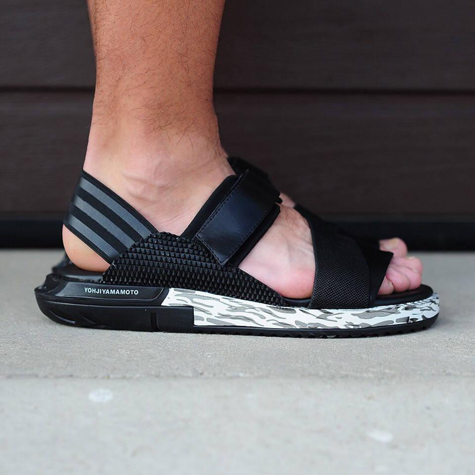 Мужские кроссовки Adidas Y-3 Yohji Yamamoto Black White (реплика)