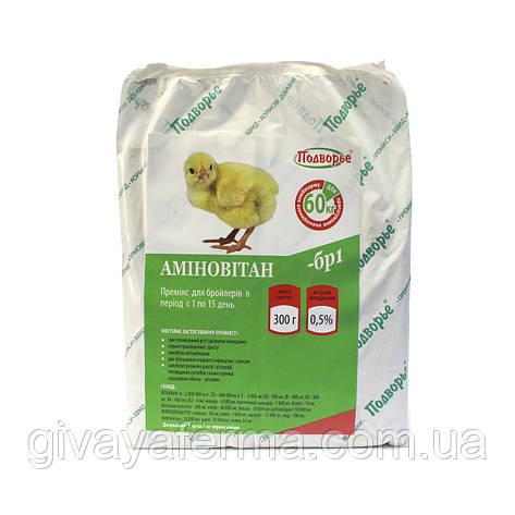 Премикс Аминовитан БР-1 бройлер 1-21 день 0,5%, 300 г,  витаминно-минеральный комплекс, фото 2