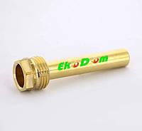 Погружная гильза латунная для датчика температуры 1/2, 7х9 мм, L=58 мм, один зонд