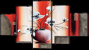 Модульная картина Ваза с цветами