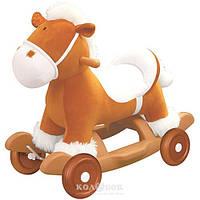 Чудокачалка музыкальный пони Kiddieland (съемные колеса, полозья, звук)